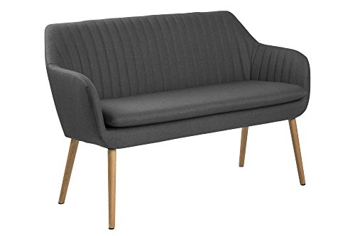AC Design Furniture Wendy Bank, Stoff, Dunkelgrau, 62 x 130 x 85 cm