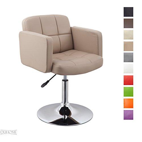 Clubsessel Sessel Kunstleder Cappuccino Esszimmerstuhl Lounge Sessel höhenverstellbar drehbar Farbauswahl - TYP 524A