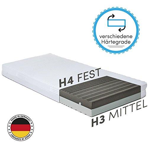 CozyFlex 7-Zonen Kaltschaum-Matratze – 2 in 1 Liegehärten durch einfaches Wenden (H3 & H4) – alle Größen erhältlich – Für alle Schlaftypen geeignet – OEKO-TEX® 100 – Made in Germany (90 x 200 cm)