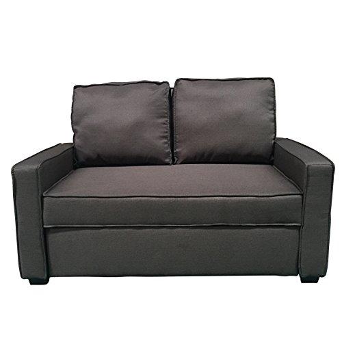 EBS My Furniture Schlafsofa Couch Sofa für Gäste 3 Sitzer Groß Dunkelbraun 134X191X44cm