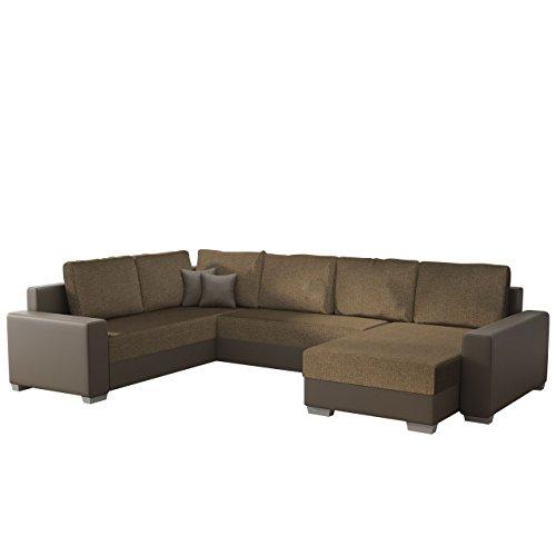 Ecksofa Olga SALE!, Elegante BIG Couch, Design U-Form Eckcouch, Ecksofa, Farbauswahl, Wohnlandschaft (Ecksofa Rechts, Soft 024 + Lux 03)