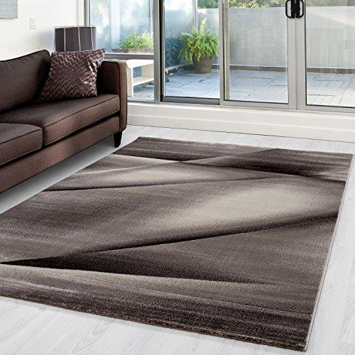 Moderner Designer Wohnzimmer Teppich Miami 6590 Braun - 160x230 cm