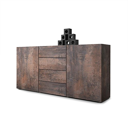 Sideboard Kommode Massa in Stahlfarbe antik