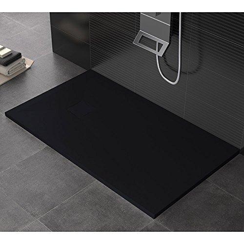 Duschwanne aus Stein Maier Aura schwarz verschiedene Größen 90x140 cm