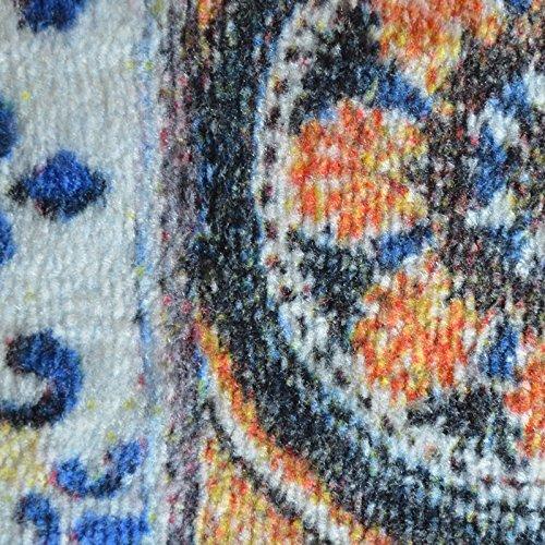 Teppichläufer Bonita | Patchwork Muster im Vintage Look | viele Größen | moderner Teppich Läufer für Flur, Küche, Schlafzimmer | Niederflor Flurläufer, Küchenläufer | Breite 80 cm x Länge 150 cm