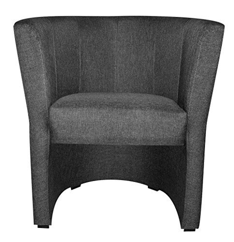 TOP Sessel Clubsessel Loungesessel Cocktailsessel Sawanna Grau W042 34 FORTISLINE