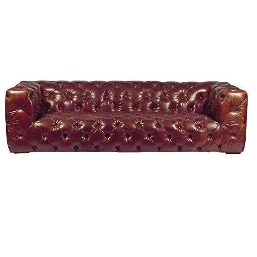 Vintage Sofa Aviator Tomcat 232 Ledersofa braun