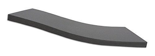 Dibapur ® BLACK: Orthopädische Kaltschaummatratze / Akustikschaumstoff - H2 - (120x200x5 cm) Ohne Bezug - Made in Germany