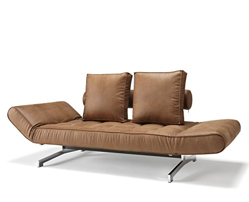 Innovation Schlafsofa Ghia Chromfüße braun
