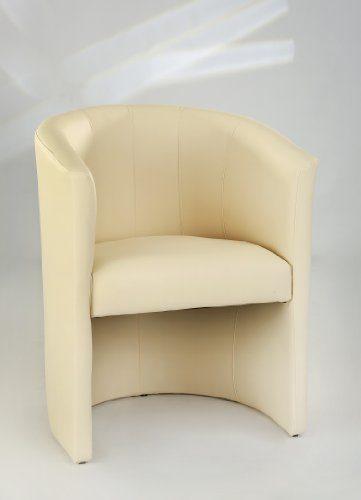 Design Cocktailsessel Sessel Clubsessel Loungesessel Club Möbel Bürosessel Praxismöbel creme