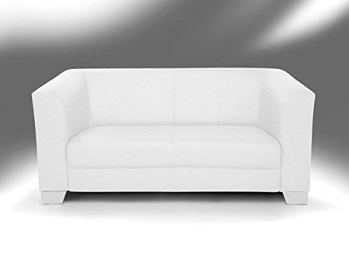 chicago 2er sofa ledersofa weiss m bel24. Black Bedroom Furniture Sets. Home Design Ideas