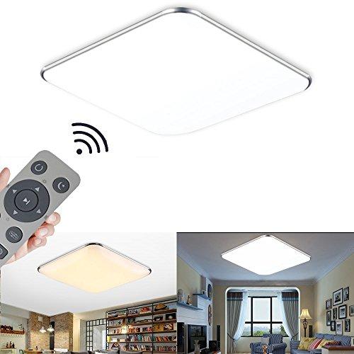 WYBAN LED Deckenleuchte Deckenlampe Wohnzimmer bad Küche Panel Leuchte (24W Dimmbar+FB)