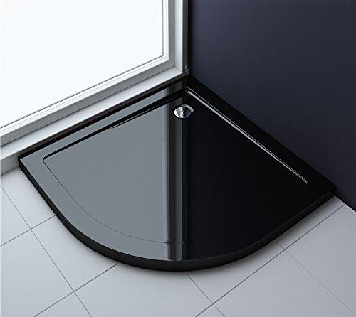 80x80x4 cm Design Duschtasse Faro3b in schwarz, Duschwanne, Acrylwanne
