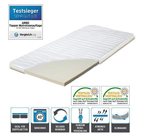 H2 Topper Matratzenauflage 180x200 Kaltschaum mit Bezug versteppt 7cm - Schlafen wie auf Wolken