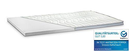 Kaltschaum Topper Matratzenauflage | 7 cm Gesamthöhe | Härte wählbar | abnehmbarer und waschbarer Bezug | Bezug wahlweise mit 3D-Mesh-Klimaband und Stegkanten | H3 - fest | 3D-Exclusive Bezug | 180 x 200 cm