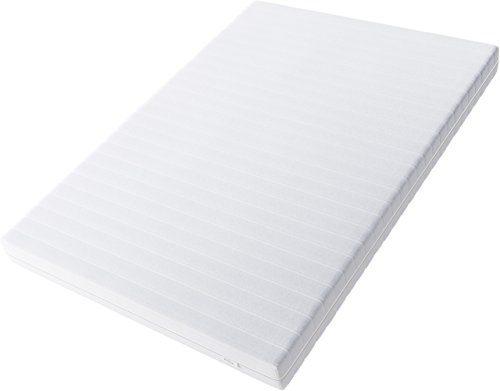 Hilding Sweden Essentials Schaumstoffmatratze in Weiß/Mittelfeste Matratze mit orthopädischem 7-Zonen-Schnitt für alle Schlaftypen (H2-H3)/200 x 140 x 16 cm