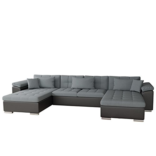 Ecksofa Wicenza Bris! Elegante Big Sofa mit Schlaffunktion Bettfunktion! Technologie Cleanaboo®, Schwerentflammbar, Wohnlandschaft! U-Form, Eckcouch Couch! (Soft 011 + Bristol 2446)