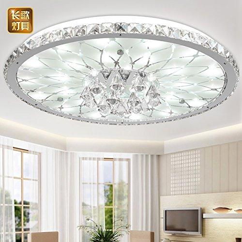 Fsd Runde Wohnzimmer led Kristall Deckenleuchte, moderne, minimalistische Atmosphäre europäische Lobby Restaurant Kristall Lampe, Durchmesser 43cm hoch 17cm*