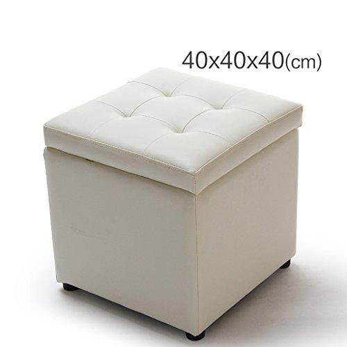 Quadratischer PVC-Holzspeicherhocker beschuht Schemelhockerpfeil-Sofabank ( Color : Beige , Size : 40*40*40cm )
