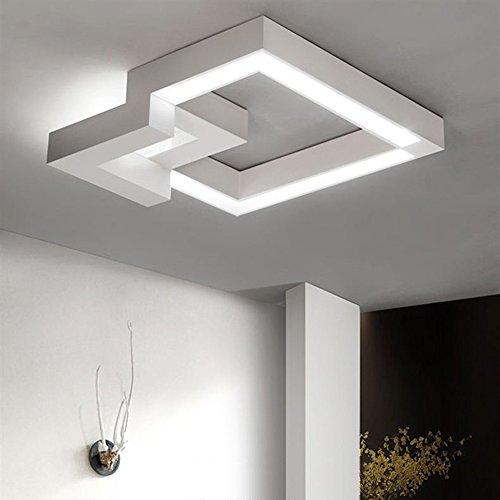 ZMH LED Deckenleuchte Dimmbar Fernbedienung, Farbewechsel stufenlos dimmbar warmweiß/neutralweiß/kaltweiß Deckenlampe Geometrisches Design Flur Badlampe Deckenbeleuchtung Wohnzimmer Lampe (24W-40CM-weiß)