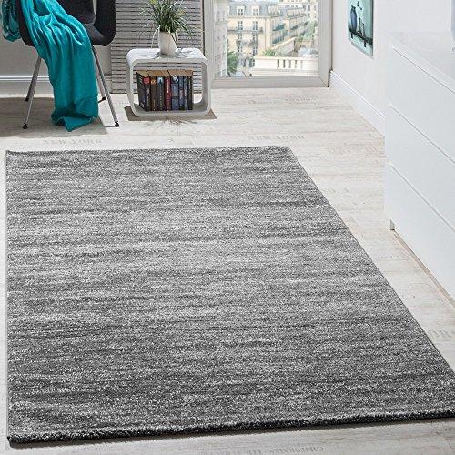 Teppich Kurzflor Modern Gemütlich Preiswert Mit Melierung Grau Anthrazit Creme, Grösse:200x280 cm