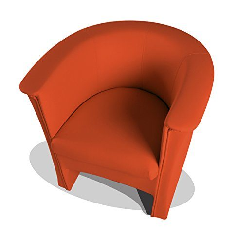 moebel-eins COCKY Kunstleder Sessel Clubsessel, orange
