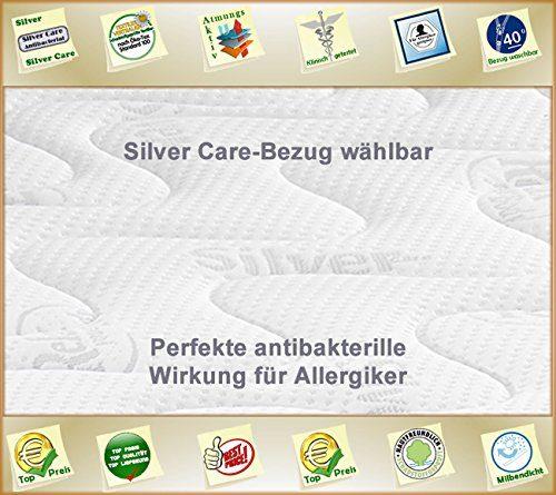 Silver Orthopädische 7 Zonen Premium Silver Care Visco Kaltschaum Matratze Höhe ca. 20 cm 90 x 200 cm H3 - Silver Care Bezug