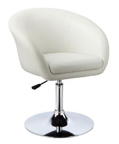 """Kronenburg Barhocker """"Lounge"""" - 360° drehbar und höhenverstellbar in Weiß - Farbwahl"""
