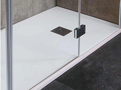 Tamanaco – Duschtasse in den Farben: marmor-weiß, creme-anthrazit, beton-grau 80x160 schwarz