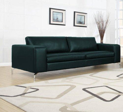 madison 3er sofa pellissima schwarz ledercouch m bel24. Black Bedroom Furniture Sets. Home Design Ideas
