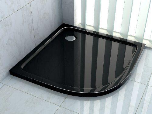 50 mm Duschtasse 80 x 80 cm Viertelkreis (schwarz)
