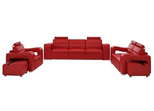 JVmoebel LEDERSOFA SOFAGARNITUR 3+2+1 SITZER (NB) H2224, Schwarz/Weiß, 3-Sitzer: 230x98x96cm, 2-Sitzer: ca. 170x98x96cm, 1-Sitzer: ca. 115x98x96cm, Leder
