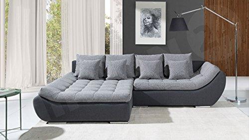 Mirjan24 Elegante Polsterecke Mono, Design Ecksofa, Eckcouch mit Bettkasten und Schlaffunktion, Schlafsofa, L-Form Moderne Couch Couchgarnitur (Ecksofa Links, Hugo 12 + Bering 90)