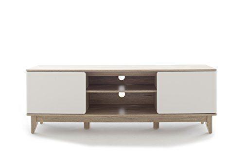 Robas Lund, Lowboard, Fernsehtisch, TV-Schrank, Monale, weiß, 40 x 160 x 55 cm, 30932WR6