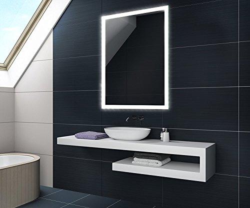 60 x 80 / 80 x 60 cm Design Badspiegel mit LED Beleuchtung von Artforma | Vertikal oder Horizontal Wandspiegel Badezimmerspiegel |Spiegel mit Gehäuse