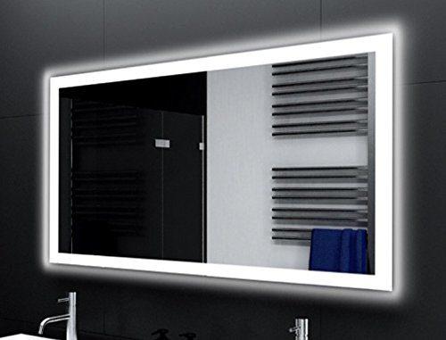 Badspiegel Designo MA4110 mit A++ LED Beleuchtung - (B) 80 cm x (H) 80 cm - Made in Germany - TIEFPREISGARANTIE Design 2018 Badezimmerspiegel Wandspiegel AKTIONSPREIS Lichtspiegel rundherum beleuchtet Bad Licht Spiegel