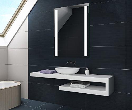 FORAM 50 x 70 cm Batterien Versorgt Design Badspiegel mit LED Beleuchtung von Artforma | Wandspiegel Badezimmerspiegel |Spiegel Nach Maß