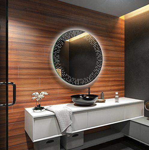 FORAM Design Badspiegel mit LED Beleuchtung Wandspiegel Badezimmerspiegel Nach Maß (Durchmesser: 60cm)