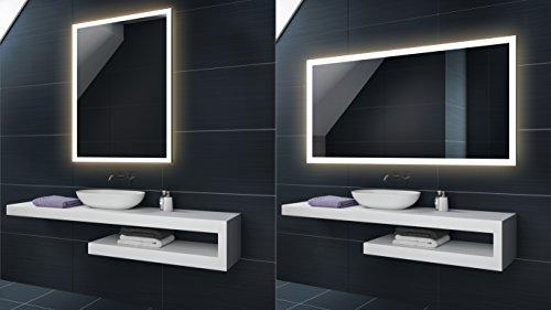 FORAM WARMWEIß 50 x 70 cm Design Badspiegel mit LED Beleuchtung von Artforma | Wandspiegel Badezimmerspiegel |Spiegel Nach Maß