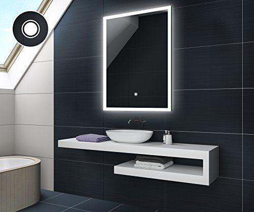 KALTWEIß 60 x 80 cm Design Badspiegel mit LED Beleuchtung und TOUCH SCHALTER von Artforma | Wandspiegel Badezimmerspiegel |Spiegel nach Maß