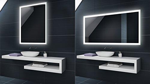 KALTWEIß 60x90 / 90x60 cm Design Badspiegel mit LED Beleuchtung von Artforma | Wandspiegel Badezimmerspiegel |Spiegel nach Maß