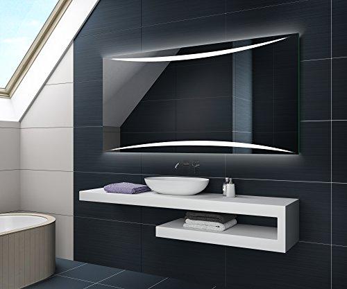 KALTWEIß 70 x 50 cm Design Badspiegel mit LED Beleuchtung von Artforma | Wandspiegel Badezimmerspiegel |Spiegel nach Maß