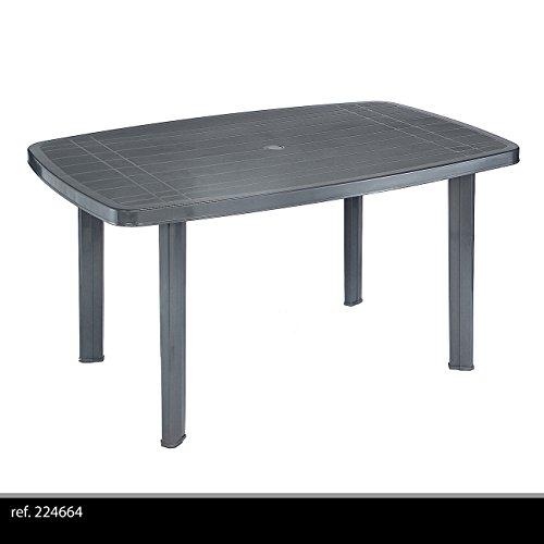 Multistore 2002 Robuster Gartentisch 138x87cm Kunststofftisch Campingtisch Beistelltisch Kunststoff Gartenmöbel…