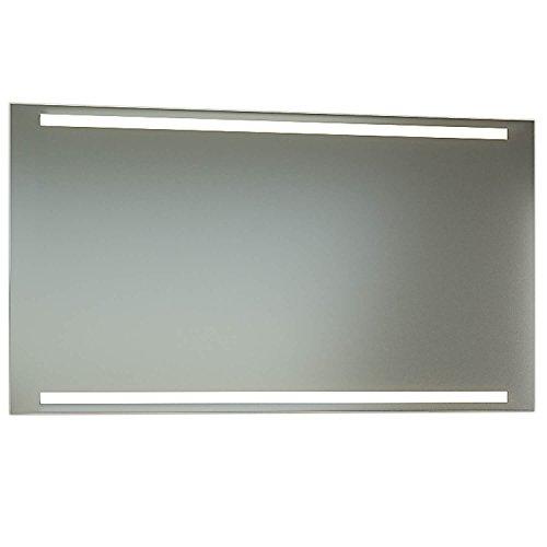 Schreiber Design Badspiegel mit Schalter 140 cm Breit x 70 cm Hoch T5 Beleuchtung Oben und Unten