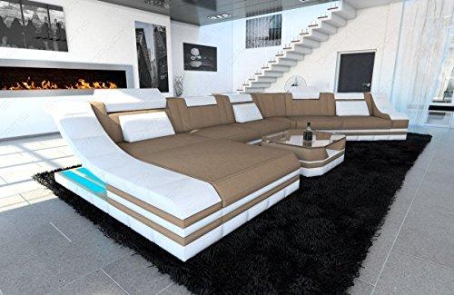 Sofa Dreams Polstersofa Turino als CL Wohnlandschaft mit LED Beleuchtung
