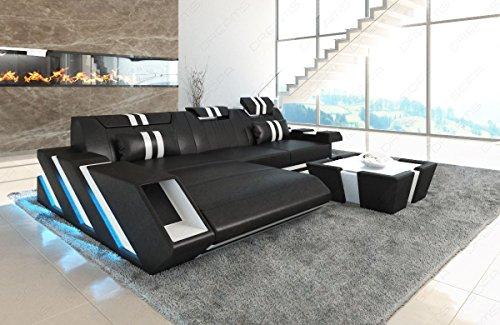 Sofa Dreams Ledersofa Apollonia als Ecksofa in der L Form mit LED Licht