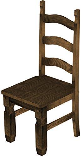 2 x brasilm bel stuhl 39 mexiko 39 45 cm sitzh he pinie massivholz farbton eiche antik m bel24. Black Bedroom Furniture Sets. Home Design Ideas