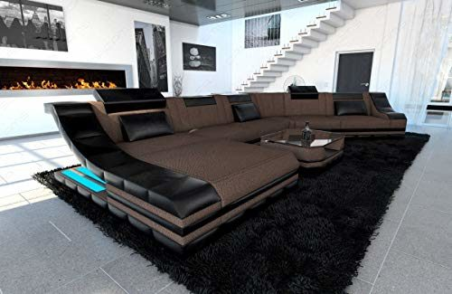 Sofa Dreams Polstersofa Turino als CL Wohnlandschaft mit LED Beleuchtung