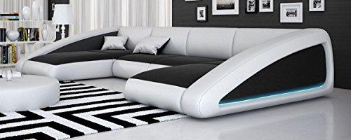 Sofa Dreams Wohnlandschaft Nassau U-Form LED