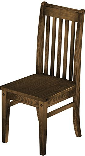Brasilmöbel 2 x Stuhl 'Klassik', 45 cm Sitzhöhe, Pinie Massivholz, Farbton Eiche Antik